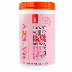 Natreve- Organic Grass-Fed Whey Protein Powder 28 Grams of Protein (Strawberr...