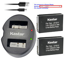 Kastar Battery Dual USB Charger for LPE17 Canon EOS RP Mirrorless Digital Camera