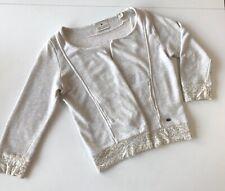 MAISON SCOTCH Women's Size 1 Medium? Beige Open Front Cotton Cardigan Jacket