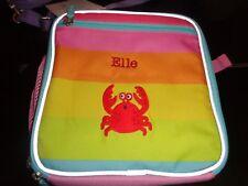 Pottery Barn Kids Fairfax  Rainbow  Lunch Bag crab patch mono Elle New