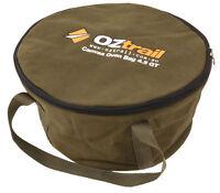 OZTRAIL CANVAS 12 QUART CAMP OVEN BAG - STORAGE & CARRY BAG