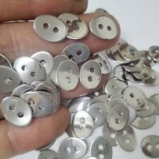 100pcs Clothing jewelry tool Current 100%Stainless Steel 2-hole connector Button