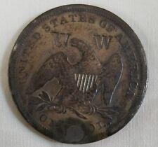 W countermark host 1842 liberty seated dollar no motto