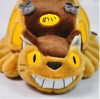 """12"""" My Neighbor Totoro Cat Bus Plush Doll Catbus Soft Toy Stuffed Pillow Gifts"""
