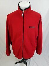 POLO SPORT Ralph Lauren Red Spell-Out Logo Full Zip Fleece Jacket Mens Large EUC