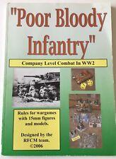 Peter Pig RFCM Poor Bloody Infantry WW2 Wargame Rules
