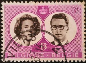 Stamp Belgium SG1766 1960 3Fr Royal Wedding Used