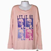 New Youth Girls Junk Food Disney Frozen Let It Go Long Sleeve Shirt Size L (10)