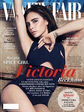 VANITY FAIR Magazine Italy,Victoria Beckham,Aaron Eckhart,Michael Fassbender NEW
