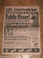 GAZZETTA DELLO SPORT=18/05/1984=GIRO D'ITALIA MOSER=GENTILE FIORENTINA=