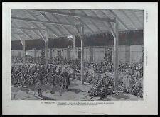GRAVURE 83° REGIMENT INFANTERIE TOULOUSE MILITARIA 1887