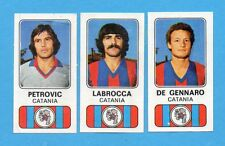 PANINI CALCIATORI 1976/77-Figurina n.354- CATANIA-PETROVIC+LABROCCA+DE GENN-Rec