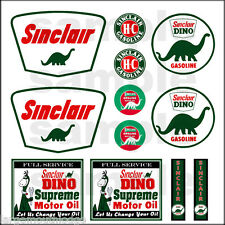SINCLAIR 1:87 HO SCALE BUILDING GASOLINE GAS STATION SIGNS DECALS FREE FLAG
