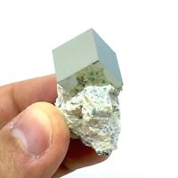 Thumbnail Size Cubic Pyrite Crystal on Matrix From Navajún, Spain