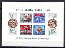 DDR,  Block 9B, Karl- Marx-Jahr, 1953, postfrisch