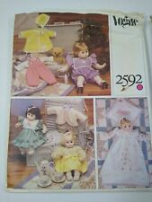 New Listingvintage sewing pattern Vogue 2592 doll clothes dress kimono coat 13 15 18 20""