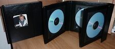 Deluxe Black Quad Faux Leather DVD Case Ideal For Weddings Discs And More