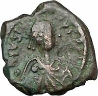 JUSTINIAN I 527AD Decanummium Constantinople Medieval Byzantine Coin i41136