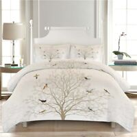 Branches Bird 3D Quilt Duvet Doona Cover Set Single Double Queen King Print
