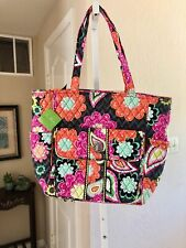 """NWT Vera Bradley Extra Large Quilted """"Tablet Tote"""" Colorful Ziggy Zinnia Print"""