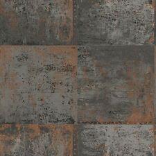 Panel de Metal Metálico Wallpaper-Gris & Cobre-Función Pared-Free P + P-Nuevo