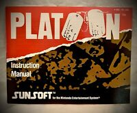 Platoon Nintendo NES Instruction Manual Only - 1988 Sunsoft