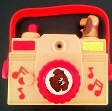 VINTAGE Pound Puppies Musical Toy Camera By Illco,Red & Beige, 1986