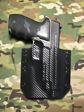 Black Carbon Fiber Kydex SIG P226R Threaded Barrel Holster
