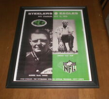 1958 STEELERS vs EAGLES FRAMED PROGRAM PRINT PITT STADIUM