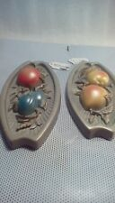 Set up to miller art studio kitchen plaques Pears on 1 apples plums on 1 vintage