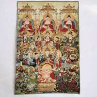 "36"" Tibet Tibetan Cloth Silk Buddhism 10000 Buddha Picture Tangka Thangka Mural"