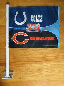 2007 INDIANAPOLIS COLTS vs CHICAGO BEARS Super Bowl XLI Cloth Banner Car Window