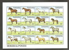 Tanzania / Horses And Ponies  Sheet Of 16 . MNH