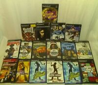 Lot Of 17 PlayStation 2 Games see pictures for titles manuals in all except GH 2