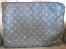LOUIS VUITTON Poche Documents Clutch Bag Monogram TH0921 Vtg Briefcase Authentic