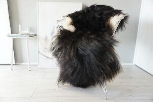Genuine Rare Single Icelandic Sheepskin Rug   Natural Long Wool Rug    SI 561
