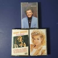 Lot Of 3 Cassettes Conway Twitty Kenny Rogers Love Songs Reba McEntire COUNTRY