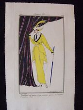 Victor Lhuer Costumes Parisiens 1914 Tailleur garni de boutons ambre Pl. 153