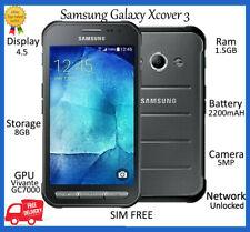 """SAMSUNG Galaxy Xcover 3 Argento SM-G388F * Sbloccato * 8GB IP67 4.5"""" HD Smartphone buona condizione"""