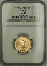 1999-W Emergency Issue $10 Dollar Gold Eagle AGE 1/4 Oz Coin NGC MS-68