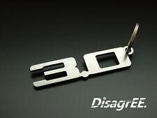 """Schlüsselanhänger """"3.0"""" 3,0 3 Liter Z4 E85 E86 Z3 X3 X5 M54 B30 Edelstahl"""