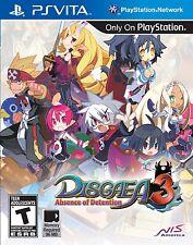Disgaea 3: Absence of Detention [Sony PlayStation Vita PSV, NIS, Anime SRPG] NEW