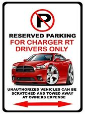 2011-14 Dodge Charger RT Muscle Car No Parking Sign NEW