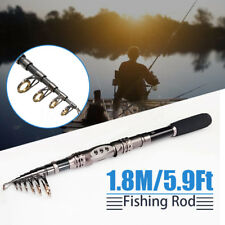1.8M 5.9Ft  Carbon Pen Telescopic Spinning Pole Saltwater Sea Boat Fishing Rods