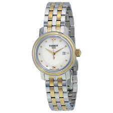 Tissot Bridgeport Quartz White Mother of Pearl Two-tone Ladies Watch