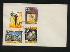 Zanzibar 301-304 overprnted stamps on cover Kl0229