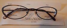Vera Wang Luxe Titanium Epiphany I Chocolate 49/17 Eyeglass Frame New