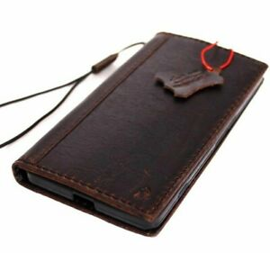 Genuine Vintage Natural Leather Case for Nokia Lumia 950 XL Book Slim ID Wallet