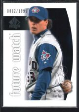 MIKE SMITH 2002 SP AUTHENTIC #96 FUTURE WATCH RC BLUE JAYS #0092/1999