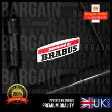 POWERED BY BRABUS BADGE EMBLEM S55 S63 C55 C63 SL55 GR GL A B C E CLK SLK G63